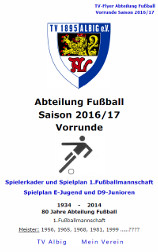 TV Albig Fussball 2016/17 Flyer